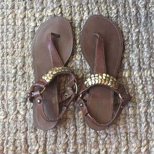 Mossimo Boho Brown Sandal with Small Wedge